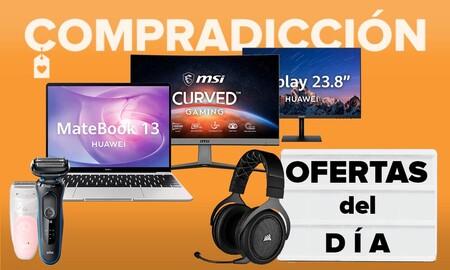 Ofertas del día y chollos en Amazon: portátiles Huawei, monitores MSI, auriculares gaming Corsair o cuidado personal Braun a precios bajos