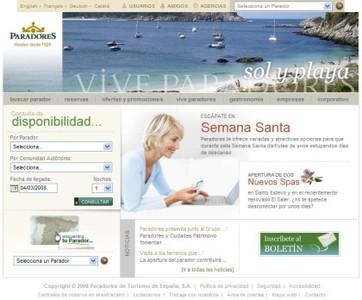 Paradores de Turismo de España renueva su web
