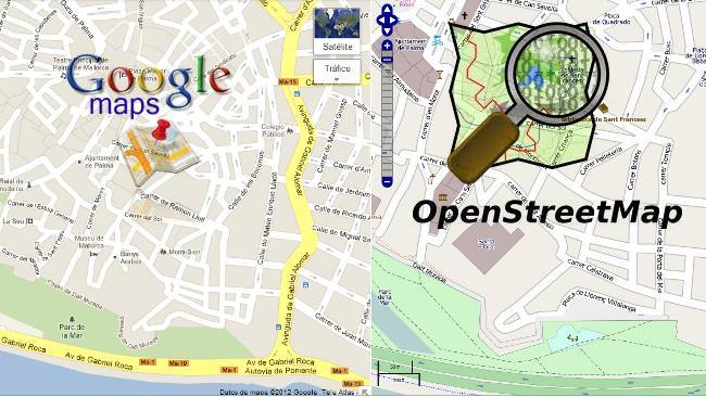 OpenStreetMaps vs Google Maps