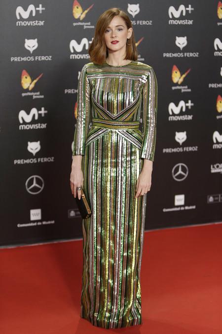 premios feroz alfombra roja look estilismo outfit Ana Polvorosa