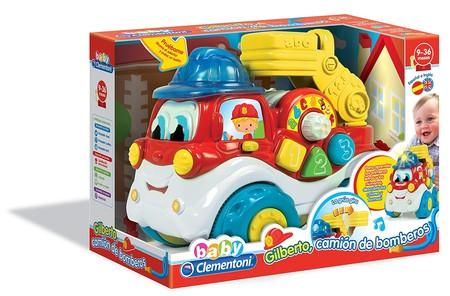 Por 16,65 euros tenemos el  camión de bomberos Gilberto de Baby Clementoni rebajado en Amazon