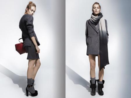 Abrigo gris bunfanda tie dye U Adolfo Dominguez catalogo otono invierno 2013 2014