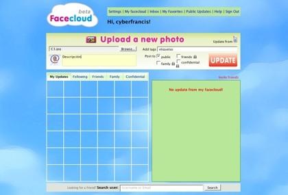 Facecloud, el microblogging llevado al alojamiento de imágenes