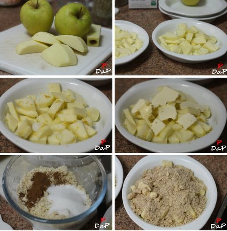 Paso a paso de la elaboración de las migas de manzana