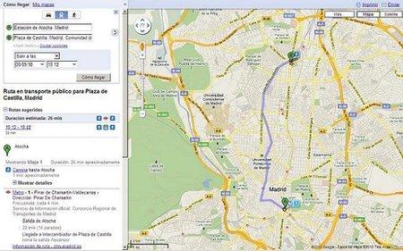 El transporte público de Madrid se encuentra disponible en Google Transit