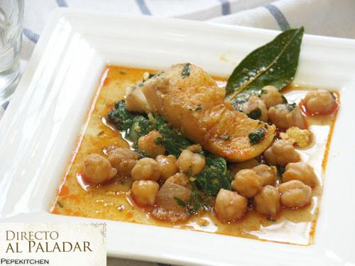 Garbanzos con bacalao y espinacas receta tradicional - Garbanzos espinacas bacalao ...