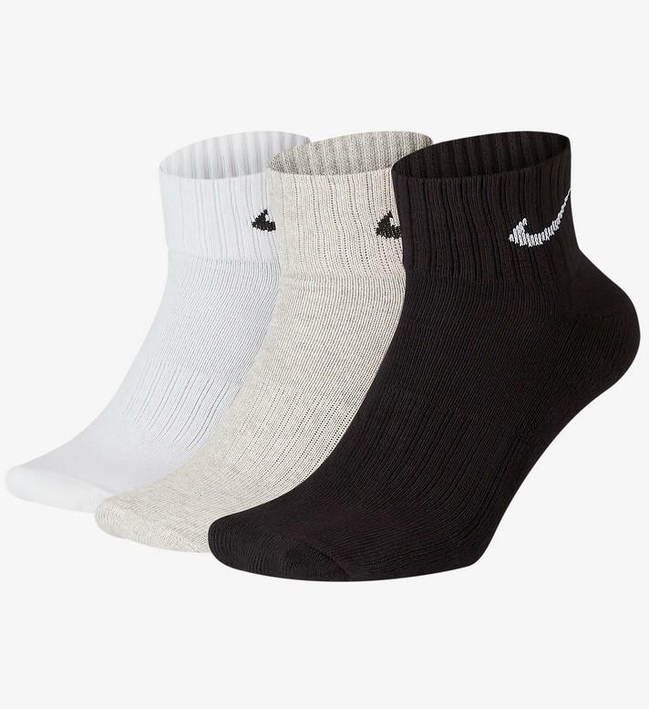 Calcetines de entrenamiento hasta el tobillo (3 pares) Nike Cushion