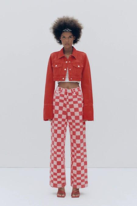 Pantalones Vaqueros Cuadros Zara 02