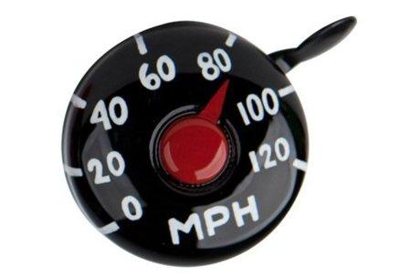 Timbre de bici con aspecto de velocímetro