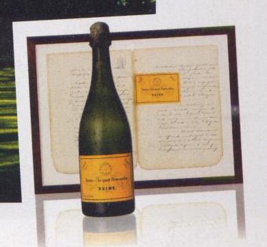 La etiqueta amarilla de Veuve Clicquot