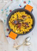 Pollo al Ras el Hanout con fruta y cous cous. Receta