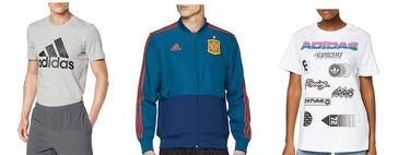 Chollos en ropa deportiva Adidas en tallas sueltas de camisetas, chaquetas o pantalones a la venta en Amazon
