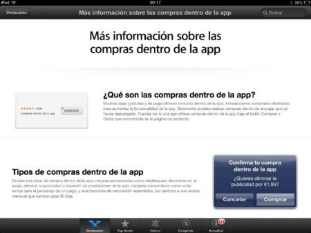 Nueva sección en la App Store para explicar todo sobre las compras dentro de las aplicaciones