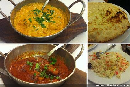 Restaurante indio taj mahal en Valencia - segundo plato