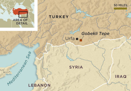 Smithsonian Map Gobekli Tepe