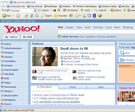 Nuevo Yahoo, primeras imágenes