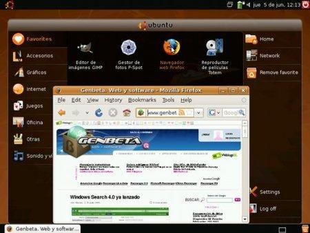 Ubuntu Netbook Remix - Firefox