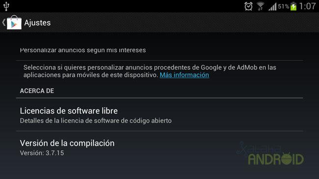 Google Play Store v3.7.15
