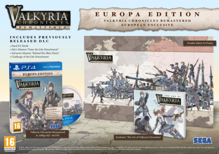 Valkyria Chronicles Remastered llegará a Europa en mayo con una edición exclusiva