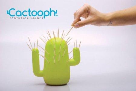 Palillero con forma de cactus para los aperitivos