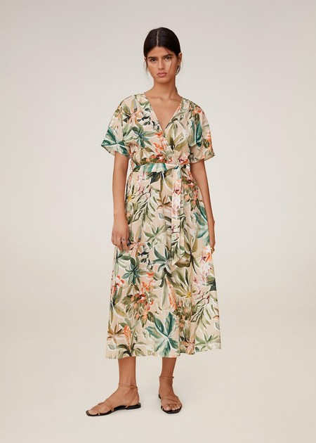 Vestido lino tropical