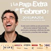 Si eres del Club Vips: paga extra de 20 euros para gastar en febrero en sus restaurantes