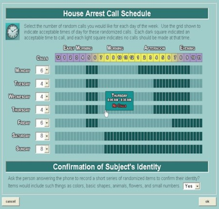 House Arrest Schedule