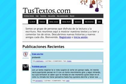 TusTextos.com, comunidad de escritores noveles