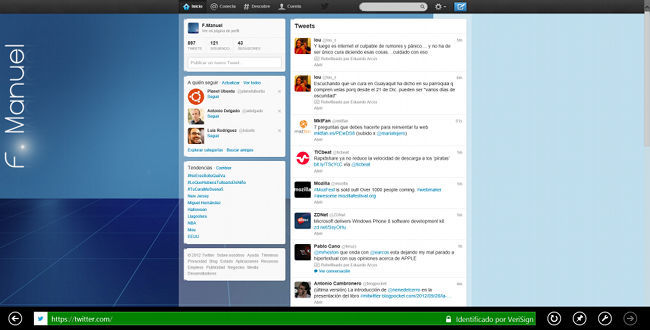 Twitter en Windows 8