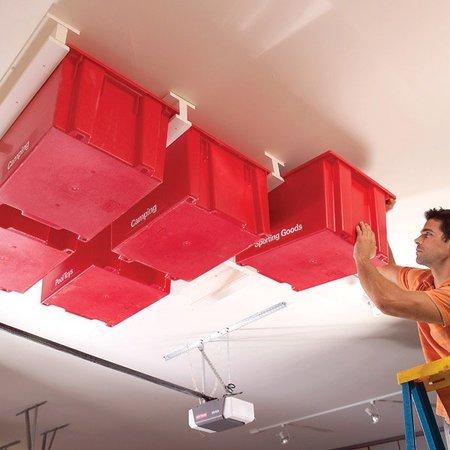 Almacenaje en el techo con raíles