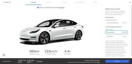 Tesla Model 3 Nueva Autonomia