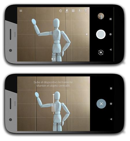 Google Pixel XL, interfaz de cámara