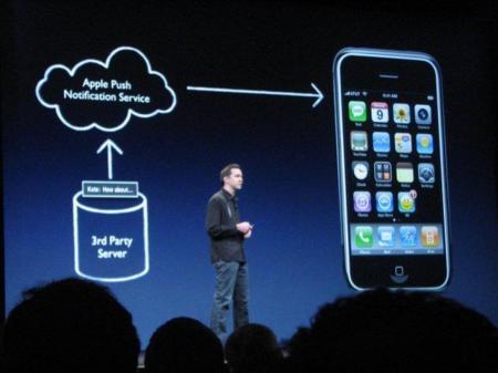 iOS también soporta notificaciones push.