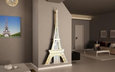 La torre Eiffel calienta tu salón