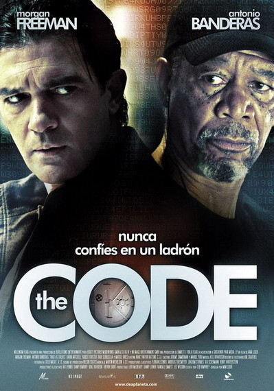 'The Code' con Morgan Freeman y Antonio Banderas, póster español