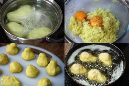 Hacer croquetas de patatas