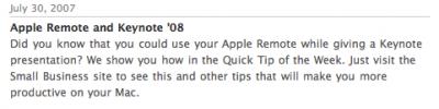 Keynote'08 y videotutoriales de Apple