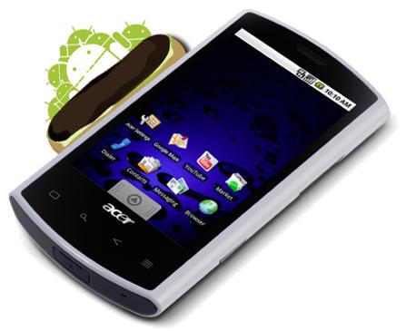 Acer Liquid también tendrá su actualización a Android 2.0