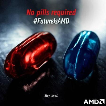 """AMD anticipa próximo lanzamiento con campaña """"No pills required"""", ¿Nuevo CPU o GPU?"""
