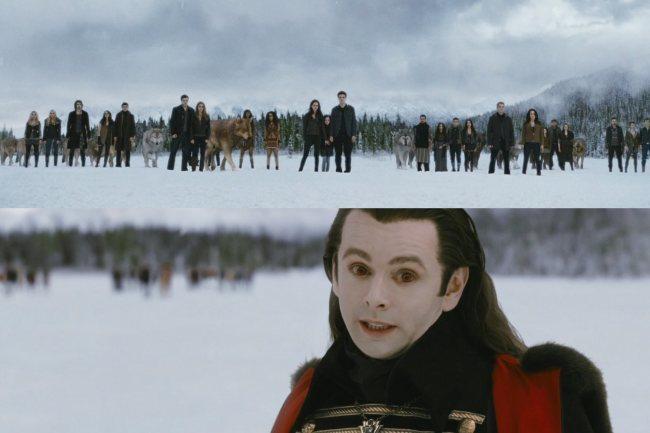 Dos imágenes de la gran batalla final