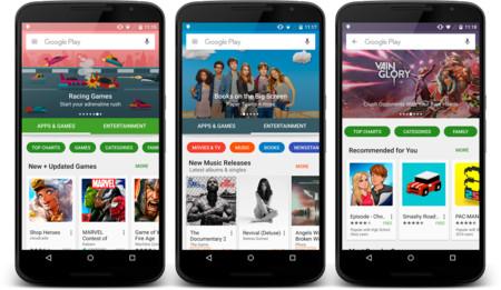 Google Play Store estrena hoy su nueva interfaz