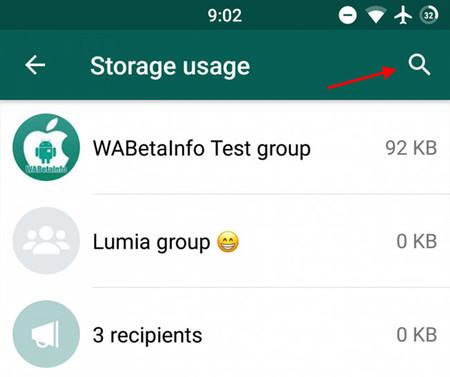 buscar archivos almacenamiento whatsapp