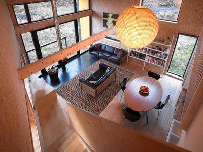 Una pequeña casa de madera en una isla escocesa