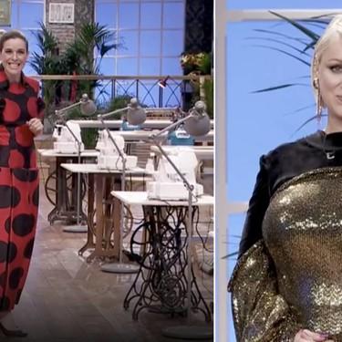 Maestros de la Costura nos deja lookazos de impresión: ayer, el vestido metalizado de Isabel Gomila y el Palomo Spain de Raquel Sanchez Silva