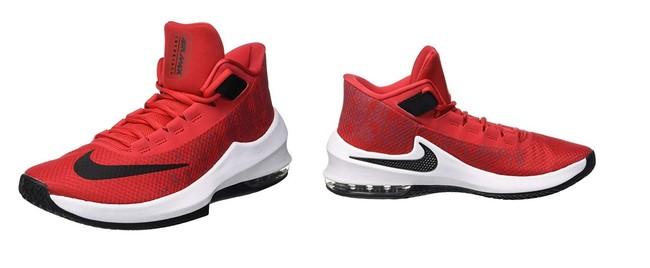 Las zapatillas de baloncesto  Nike  Air MAX Infuriate 2 Mid en color rojo pueden ser nuestras por 59,45 euros en Amazon