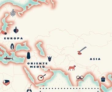 'El atlas comestible' o cómo viajar a través de la comida