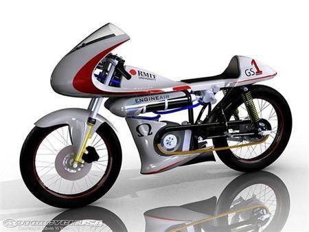 Moto propulsada por aire comprimido, prototipo australiano
