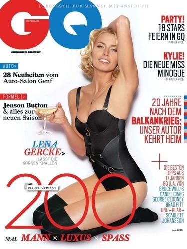 Lena Gercke es la rubia elegida por la GQ alemana para celebrar su 200 edición