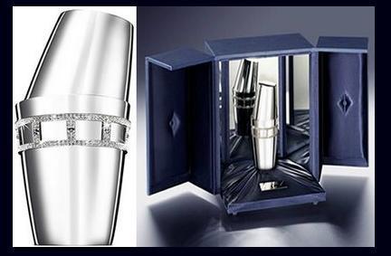 """""""Bols Diamante Shaker"""", lujosa coctelera en oro y diamantes"""