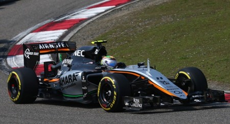 Checo P Rez In The 2015 Chinese Grand Prix
